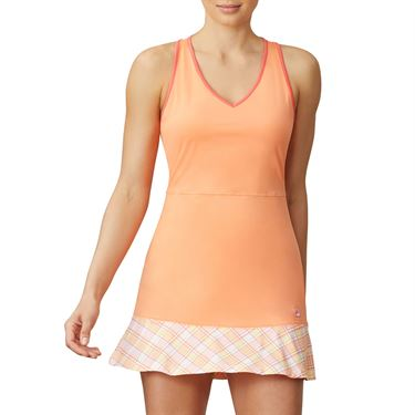 Fila Mad For Plaid Dress Womens Melon/Plaid/Calypso Coral TW015548 879