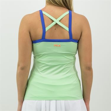 Fila Colorful Play Cami Tank Womens Green Ash/Amparo Blue TW015554 378