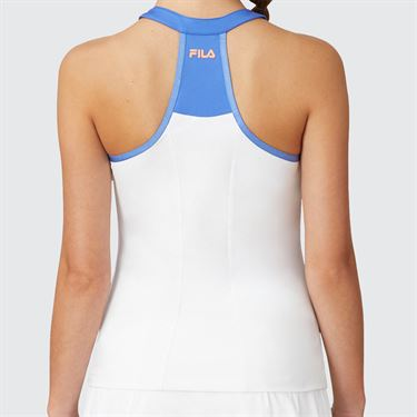 Fila Colorful Play Halter Tank Womens White/Green Ash/Amparo Blue TW015556 100