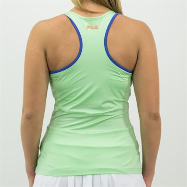 Fila Colorful Play Halter Tank Womens Green Ash/Amparo Blue TW015556 378