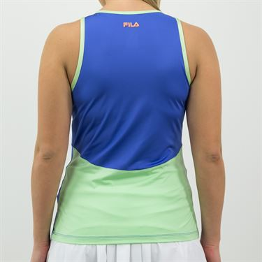 Fila Colorful Play Full Coverage Tank Womens Amparo Blue/Green Ash TW015557 499