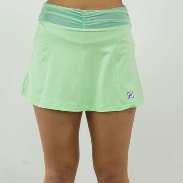 Fila Colorful Play Flare Skirt Womens Green Ash/Amparo Blue TW015561 378