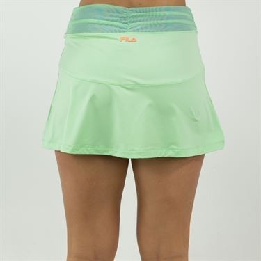 Fila Colorful Play Flare Skirt Womens Green Ash/Amparo Blue TW015561 378