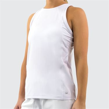 Fila Full Coverage Tank Womens White TW016437 100