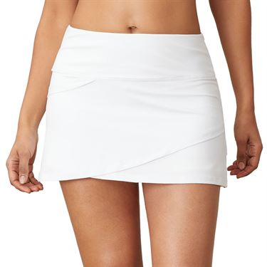 Fila Essentials Tiered Skirt Womens White TW016439 100