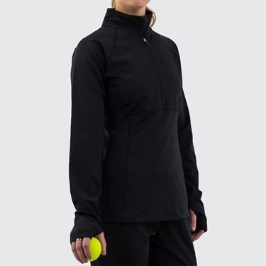 Fila 1/2 Zip Jacket Womens Black TW016465 001
