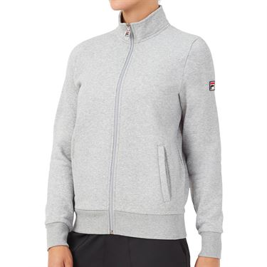 Fila Match Fleece Full Zip Jacket Womens Grey TW016941 073