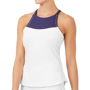 Fila Back Court Halter Tank Womens White TW036888 100