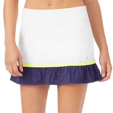 Fila Back Court Flare Skirt Womens White TW036892 100
