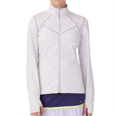 Fila Back Court Jacket Womens White/Purple TW036893 532