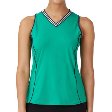 Fila Heritage Full Coverage Tank Womens Court Green/Navy TW036904 330