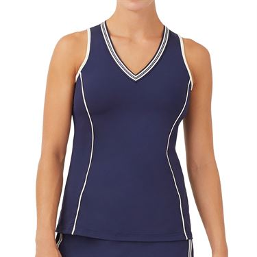 Fila Heritage Full Coverage Tank Womens Navy/Ecru TW036904 412