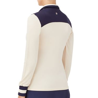 Fila Heritage Jacket Womens Ecru/Navy TW036923 140