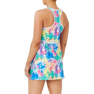 Fila Top Spin Dress Womens Multi Color Tie Dye/White TW039924 203