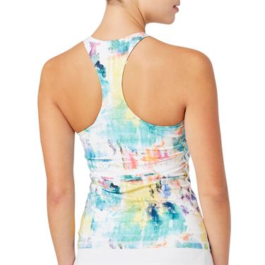 Fila Tie Breaker Printed Racerback Tank Womens Tie Dye Print/White TW118283 101