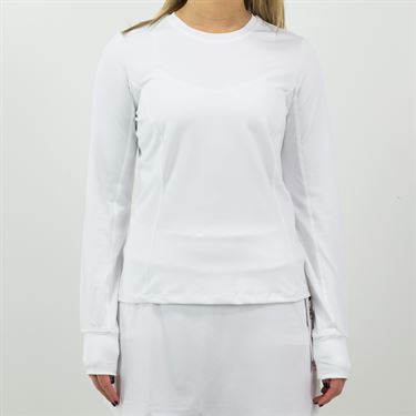 Fila Classic Long Sleeve Crew Neck Womens White TW133BQ4 100