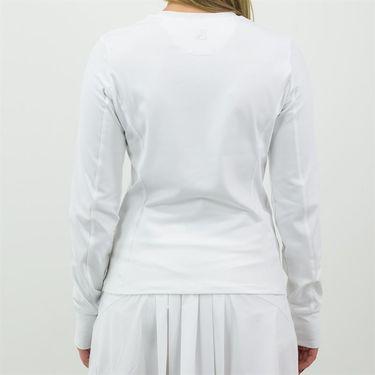 Fila Classic Long Sleeve Crew Neck Womens White TW133BQ4 100