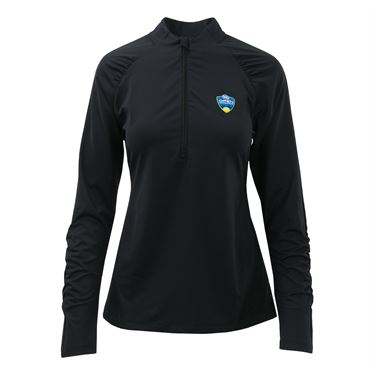 Fila Half Zip Pullover Womens Black TW163RV9 001