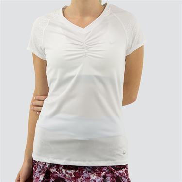 Fila Spotlight Set Short Sleeve Top Womens White TW171UG6 100