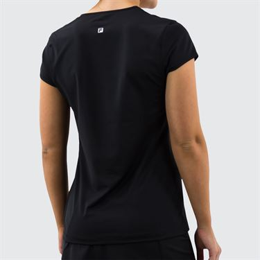 Fila Foundation Cap Sleeve Top Womens Black TW171WM4 001