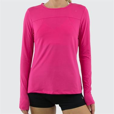 Fila UV Blocker Long Sleeve Top Womens Fuchsia Purple TW173WN7 677