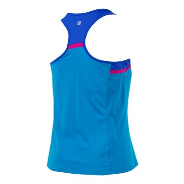 Fila Sweetspot Colorblocked Tank - Blue Atoll/Amparo Blue/Raspberry Rose