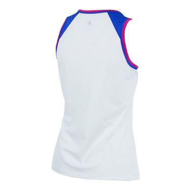 Fila Sweetspot Full Coverage Tank - White/Amparo Blue/Raspberry Rose