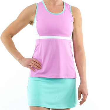 Fila Elite Full Coverage Tank - Lilac/White/Ice Green