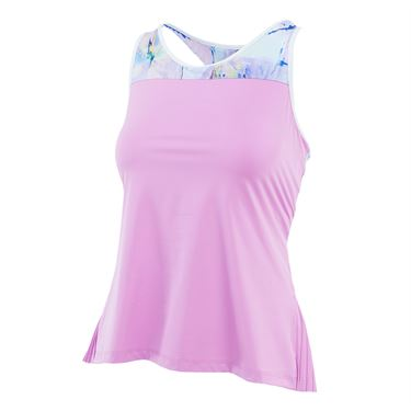 Fila Elite Pleated Back Tank - Lilac/Club Print