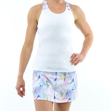 Fila Elite Ruched Tank - White/Club Print
