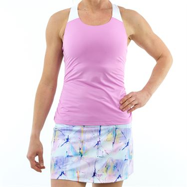 Fila Elite Ruched Tank - Lilac/White