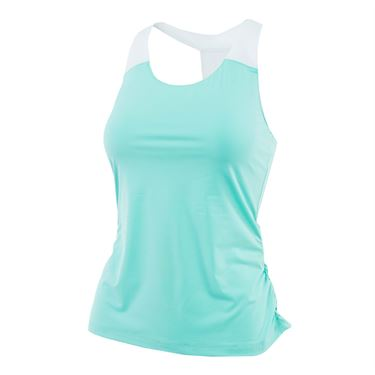 Fila Elite Ruched Tank - Ice Green/ White