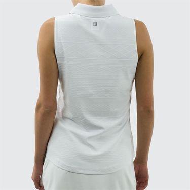 Fila Lawn Sleeveless Polo - White