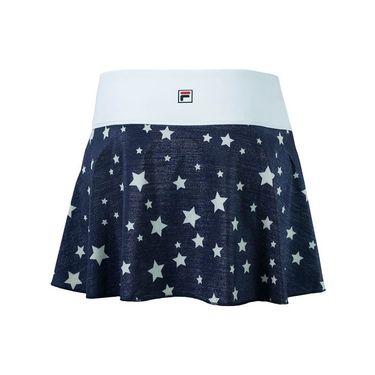 Fila Heritage Flirty Skirt 13.5 inch - Navy Star Print/White