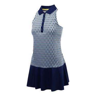 Fila Argyle Polo Dress - Navy Argyle/Navy/White
