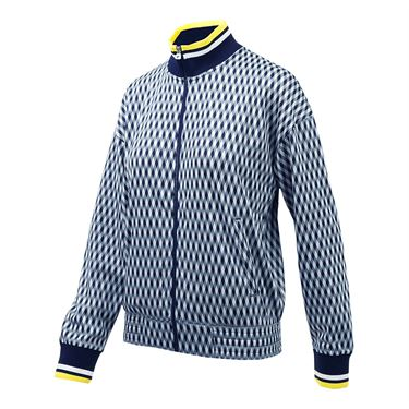 Fila Argyle Jacket - Navy/Aurora/White