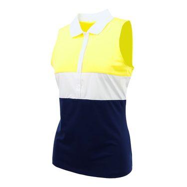 Fila Argyle Sleeveless Polo - Navy/White/Aurora