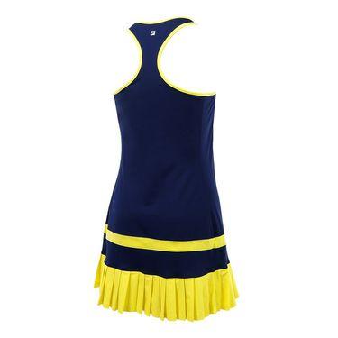 Fila Argyle Pleated Dress - Navy/Aurora/White