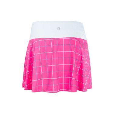 Fila Windowpane Flirty Skirt - Miami Pink/Windowpane Print/White