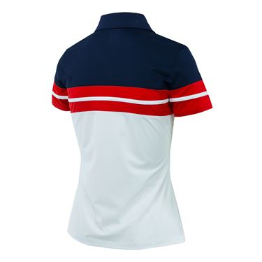 Fila Heritage Polo - Baltic White/Navy/Chinese Red