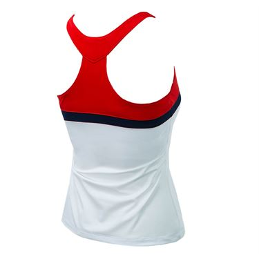 Fila Heritage T Back Tank - White/Red/Navy