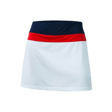 Fila Heritage Colorblocked Skirt 14.5 inch - White/Navy/Red