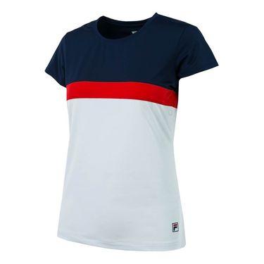 Fila Heritage Cap Sleeve Top - White/Navy/Red