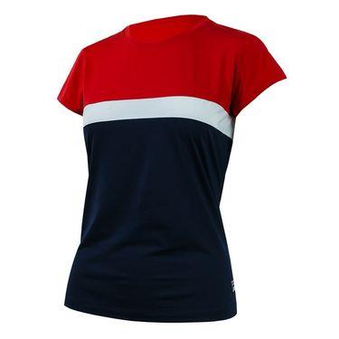 Fila Heritage Cap Sleeve Top - Navy/Red/White