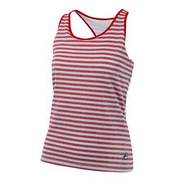 Fila Heritage Sparkle Stripe Tank - Red/White