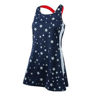 Fila Heritage Star Dress - Navy Star Print/White/Red