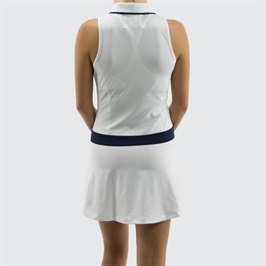 Fila Heritage Polo Dress - White/Navy