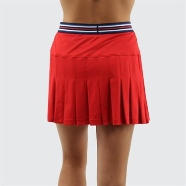 Fila Heritage A Line Skirt - Chinese Red/Navy