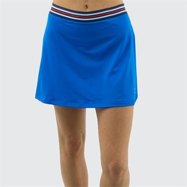 Fila Heritage A Line Skirt - Electric Blue/Navy