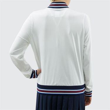 Fila Heritage Jacket - White/Navy/Chinese Red